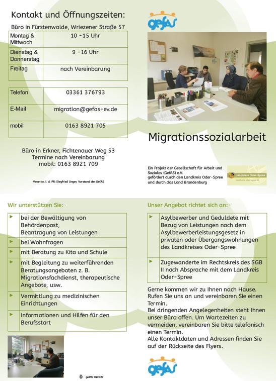 Migrationssozialarbeit GefAS e.V.