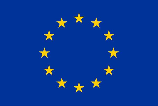 EU-Emblem: Flagge mit Sternen